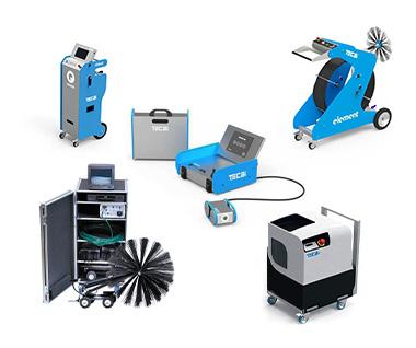 Echipamente pentru curatat tubulaturi de ventilație si aerisire